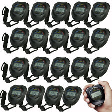 Lot Professional Electronic LCD Timer Digital Sport Stopwatch Counter Timer US