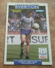 1987-88 Everton v Derby County  -   Division One