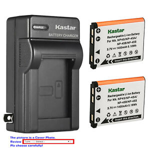 Kastar Battery AC Wall Charger for Fujifilm FinePix XP30 XP31 XP50 XP60 XP70