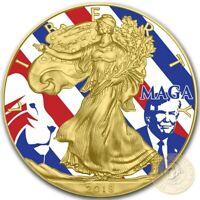 USA MAGA TRUMP American Silver Eagle 2018 Walking Liberty $1 Dollar Coin 1 oz