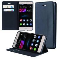 Custodia per Huawei P10 Lite Cover Case Portafoglio Wallet Etui Nero