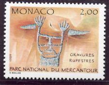 TIMBRE DE MONACO N° 1663  ** INSCRIPTION RUPESTRE / LE SORCIER