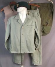 Vintage 1950s USMC Marines HBT Shirt Pants w/Beret Pin Vest Duffle Bag Post WWII