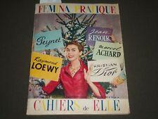 1955-1956 FEMINA PRATIQUE CAHIERS DE ELLE MAGAZINE LOT OF 2 - J 2548