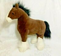 "Gund Plush Clydesdale Horse ""Clyde"" Stuffed Animal 42985 Chestnut White 15inch"