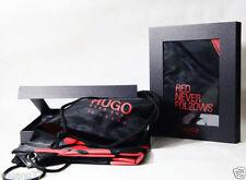 HUGO BOSS SPECIAL EDITION DRAWSTRING GYM SPORT BAG BACK PACK RED BLACK GIFT BOX