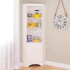 Prepac Home Elite Tall 1-Door Corner Storage Cabinet in White, Wscc-0604-1 New