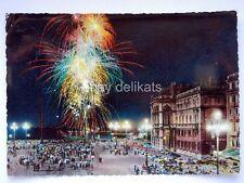 TRIESTE fuochi artificio pirotecnici vecchia cartolina