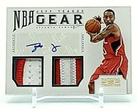 2012-13 National Treasures Jeff Teague NBA Gear 3-Clr Patch Auto Prime /25 Hawks
