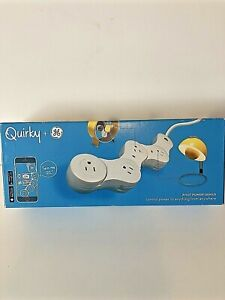 Quirky + GE Pivot Power Genius Wink WIFI Power Strip Cord Control From Phone NEW