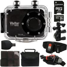 Vivitar DVR786HD HD Waterproof Action Camera Camcorder Black w/ Top Value Bundle