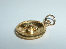 VINTAGE 18k YELLOW GOLD MOVEABLE ROULETTE WHEEL CHARM
