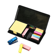 Deluxe Sticky memonote DESK ORGANIZER SET With1 MINI STAPLE & 20pc Clip AC - 9258