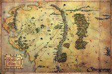 THE LO HOBBIT MAPPA EREBOR 61x91 CM THORIN LOTR MAP IL SIGNORE DEGLI ANELLI #1