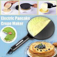 Electric Pancake Crepe Maker Batter Tray Egg Pan Beater Handle Non-Stick Kitchen