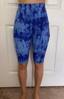 "Lululemon Size 8 Align SHR Short 10"" Blue GABU Speed Nulu Embrace Run Yoga"