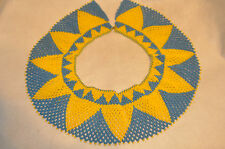 Native American Hand Beaded Collar Seed Bead Necklace