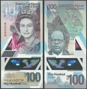 EAST CARIBBEAN 100 DOLLARS 2019 P NEW B244 POLYMER QE II UNC