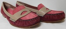 COLE HAAN NIKE AIR PURPLE AND PINK SUEDE MOCCASINS LOAFERS WOMENS SIZE 8.5 EUC