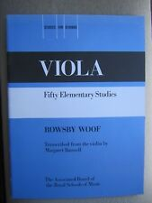 50 Elementary VIOLA Studies by Rowsby Woof *NEW* publisher ABRSM