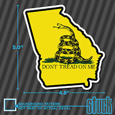 "Georgia State Don't Tread On Me - 4.8""x5"" - printed vinyl decal sticker GA"