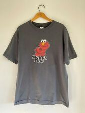 """Sesame Street Elmo """"Tickle This"""" Gray T Shirt Vintage Style Size Adult Large"""