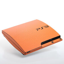 Orange Carbon PS3 slim Textured Skins -Full Body Wrap- decal sticker cover