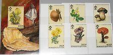 Upper Volta obervolta 1984 950-55 bloque 80 u Boy Scouts fungus Flowers flora mnh