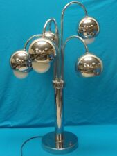 BEST SPACE AGE / ATOMIC ERA  60's CHROME TABLE LAMP 30""