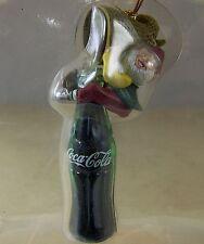 Coca Cola CHRISTMAS ORNAMENT FILL 'ER UP Elf on Coke Bottle 1994 in Box Bottling