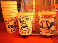 TOLEDO MUD HENS baseball vtg 1982 souvenir cup Muddy old logo OHIO