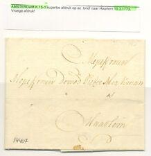 NEDERLAND 1773 BRIEF AMSTERDAM--HAARLEM  -LUXE AFDRUK