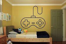 Gamer Wall Decal Video Gaming Room Vinyl Sticker Gamepad Art Decor Mural F2333