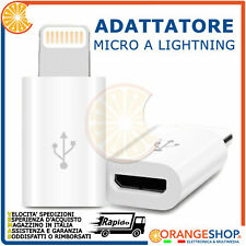 Adattatore da Micro USB a 8 Pin Lightning per iphone ipad sincro dati ricarica