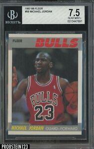 1987-88 Fleer Basketball #59 Michael Jordan Chicago Bulls HOF BGS 7.5 NM+