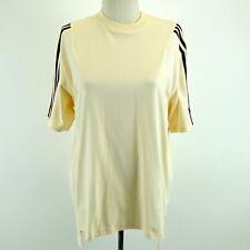 IVY PARK ADIDAS New w/Tag Cream & Maroon Striped Oversized T-shirt GK4889 Sz S