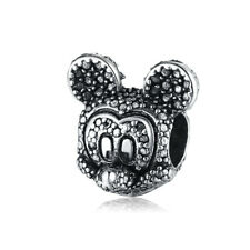 5PCS Mickey Charm Big Hole Beads fit European Silver Bracelet