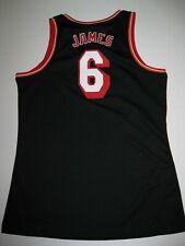 Lebron James Miami Heat Black Hardwood Nights Women's Large Replica Jersey