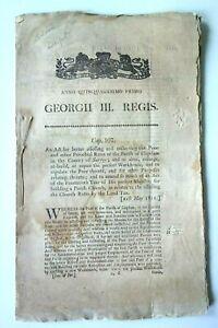 ANNO QUINQUAGESIMO PRIMO GEORGII III REGIS CAP 107 1811 CLAPHAM WORKHOUSE