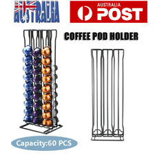 Nespresso Coffee Capsules Holder Rack 60 Pod Drawer Rack Storage Organizer Stand