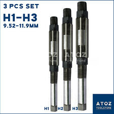 """H3 Adjustable Hand Reamer Tool Set 3//8/"""" to 15//32/"""" @ gt 9.52-11.9mm H1"""