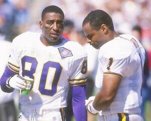 WARREN MOON & CRIS CARTER 8X10 PHOTO MINNESOTA VIKINGS PICTURE NFL FOOTBALL