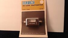 Gold Line INLINE WATTMETER 52 OHMS 5 WATTS GLC 1056 NOS BROWN