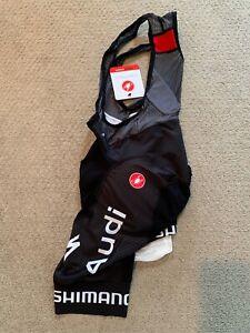 Castelli Free Aero Race 4 Bib Shorts Audi Cycling Team Edition, NEW, Small