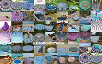 100 PCs Wholesale Lot Indian Mandala Round Beach Throw Tassel Cotton Tapestry