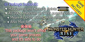Monster Hunter Rise Update3.3 Save Edit Mod Service✨UNLOCK & MAX OUT EVERYTHING✨