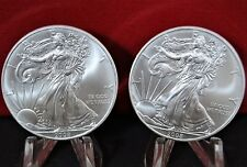 Lot of 2 2008 Silver American Eagle BU Coins 1 oz. US $1 Dollar Uncirculated