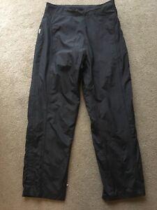 Sunice Storm Women's Waterproof Rain Pants Size M Solid Black Excellent Lined