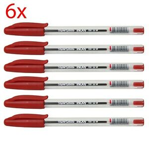 6x PaperMate InkJoy Ultra Smooth Ink Ballpoint Pens RED 1.0mm Medium Point
