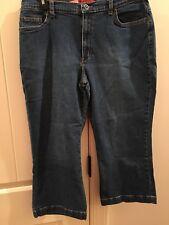 Zena Jeans Capris Size 14 Med Wash Ladies